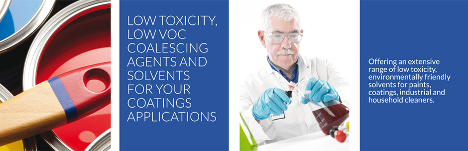 Low toxicity, low voc coalescing agent and solvents for your coating applications