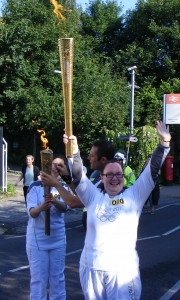 Chemoxy Employee Michelle Bell Carries the Olympic Flame