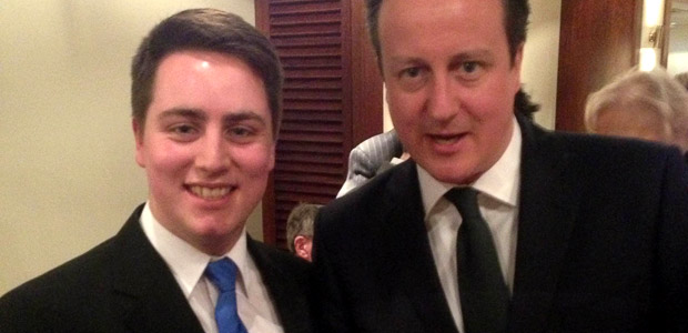 Chemoxy Apprentice, Jacob Young, with UK Prime Minister, David Cameron