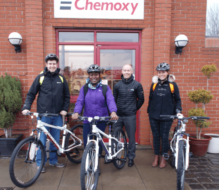 Chemoxy donate bikes to Charity