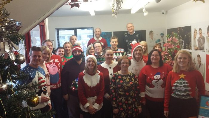 Festive Jumper Day at Chemoxy