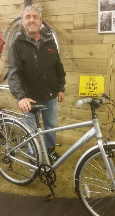 Chemoxy Employee wins bike for taking part in Ride to Work Week