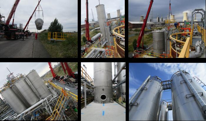 Two new storage tanks at Chemoxy's Billingham site